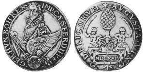 1 Thaler Augsburg (1276 - 1803) Silber Ferdinand II. (HRR)(1578 -1637)