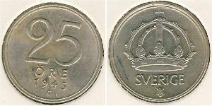 25 Эре Швеция Никель/Медь