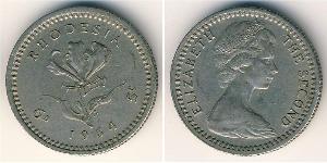 6 Penny Southern Rhodesia (1923-1980) Cuivre/Nickel