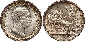 2 Lira Kingdom of Italy (1861-1946)  Vittorio Emanuele III d