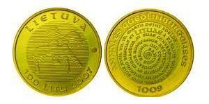 100 Лит Литва (1991 - ) Золото