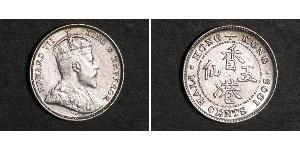 5 Cent Hong Kong Plata Eduardo VII (1841-1910)