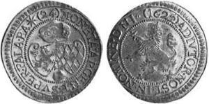 24 Kreuzer Ducado de Baviera (907 - 1623) Plata Maximiliano I, duque y elector de Baviera(1573 – 1651)