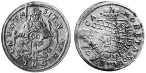 60 Kreuzer Ducado de Baviera (907 - 1623) Plata Maximiliano I, duque y elector de Baviera(1573 – 1651)