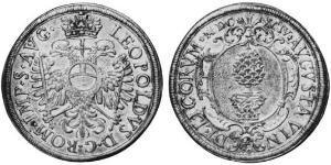 1 Thaler Augsburgo (1276 - 1803) Plata Leopoldo I de Habsburgo(1640-1705)