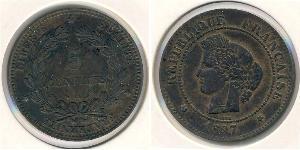 5 Sent Troisième République (1870-1940)  Bronze