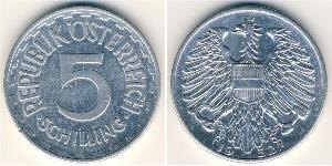 5 Shilling Allied-occupied Austria (1945-1955) Aluminium