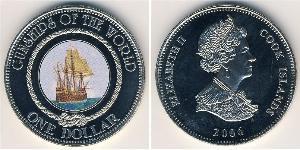 1 Dollar Cook Islands 镍/銅