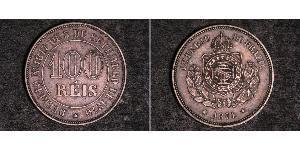 1000 Reis Brésil / Empire du Brésil (1822-1889) Argent