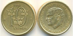 10 Крона Швеція Бронза/Алюміній