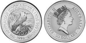 30 Доллар Австралия (1939 - ) Серебро Елизавета II (1926-)