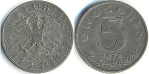 5 Grosh Allied-occupied Austria (1945-1955) / Republic of Austria (1955 - ) Zinc