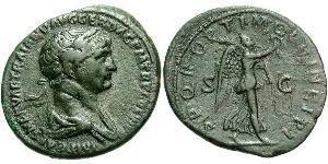 1 As Roman Empire (27BC-395) Bronze Trajan (53-117)