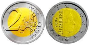 2 Євро Люксембург Біметал