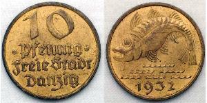 10 Pfennig Danzica (1454-1793) Alluminio/Bronzo