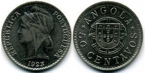 50 Centavo 葡屬西非 (1575 - 1975) / 葡萄牙 镍