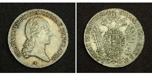 1/2 Thaler Imperio austríaco (1804-1867) Plata Francis II, Holy Roman Emperor (1768 - 1835)