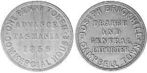 1 Penny Ôstralie (1788 - 1939) Cuivre