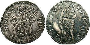 1 Guilio Stato Pontificio (752-1870) Argento Papa Giulio III  (1487- 1555)