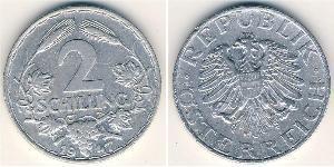 2 Шиллинг Первая Австрийская Республика (1918-1934) Алюминий