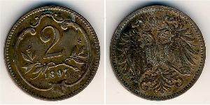 2 Гелер Австро-Угорщина (1867-1918) Бронза