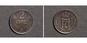 2 Ore Kongeriket Norge (1905 - )  Haakon VII. (1872 - 1957)