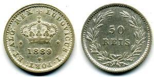 50 Reis Kingdom of Portugal (1139-1910) Silber