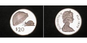 1 Доллар Фиджи Серебро Елизавета II (1926-)