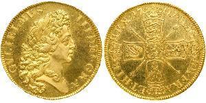 5 Гинея Королевство Англия (927-1649,1660-1707) Золото Вильгельм III (1650-1702)