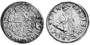 1/4 Thaler Alsacia Plata Fernando II de Austria (1529 – 1595)