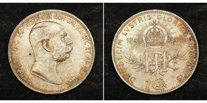1 Corona 奥匈帝国 (1867 - 1918) 銀 弗朗茨·约瑟夫一世 (1830 - 1916)