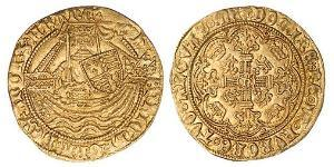 1/2 Noble Kingdom of England (927-1649,1660-1707) Gold Henry VI (1421-1471)