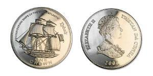 1 Corona Tristan da Cunha Rame/Nichel Elisabetta II (1926-)