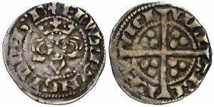 1 Пенни Королевство Англия (927-1649,1660-1707) Серебро Эдуард I (1239 - 1307)