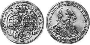 2 Ducat Imperial City of Augsburg (1276 - 1803) Gold Maria Eleonora of Brandenburg (1599 – 1655) / Gustavus Adolphus of Sweden (1594 – 1632)