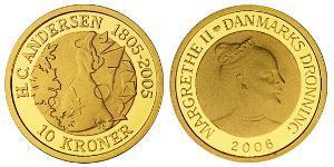 10 Крона Данія Золото