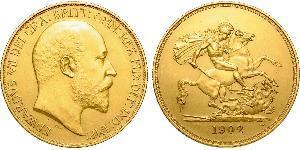 5 Фунт Сполучене королівство Великобританії та Ірландії (1801-1922) Золото Едвард VII (1841-1910)