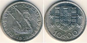 10 Эскудо Вторая Португальская республика (1933 - 1974) Никель/Медь