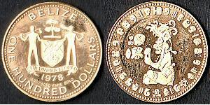 100 Dollar Belize (1981 - ) Or