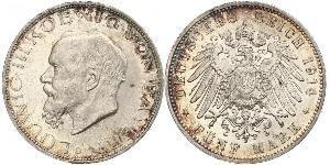 5 Mark 巴伐利亞王國 (1806 - 1918) 銀 路德维希三世 (巴伐利亚) (1845 – 1921)