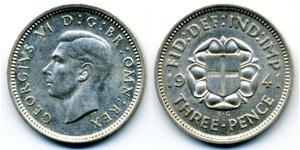 Threepence United Kingdom (1922-) Silver George VI (1895-1952)