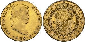 8 Escudo Vizekönigreich des Río de la Plata (1776 - 1814) / Bolivien Gold Ferdinand VII. von Spanien (1784-1833)