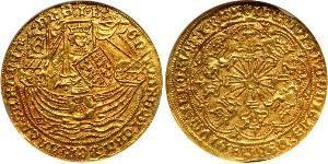 1 Ryal Королевство Англия (927-1649,1660-1707) Золото Эдуард IV (1442-1483)