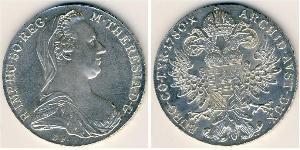 1 Thaler Austria Plata