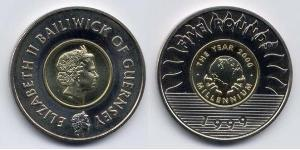 5 Pound Guernsey Bimetal Elizabeth II (1926-)