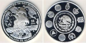 5 Peso Mexiko (1867 - ) Silber