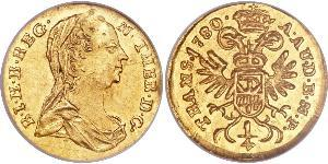 1/4 Ducat Holy Roman Empire (962-1806) Gold Maria Theresa of Austria (1717 - 1780)