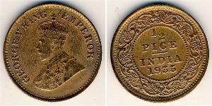 1/2 Paisa Raj britannique (1858-1947) Bronze George V (1865-1936)