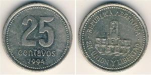 25 Centavo Argentina (1861 - ) Rame/Nichel