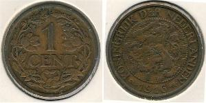 1 Cent Regno dei Paesi Bassi (1815 - ) Bronzo Guglielmina dei Paesi Bassi(1880 - 1962)